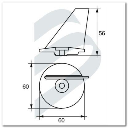 Ánodo MERCURY-MERCRUISER 40 HP SX dimensiones