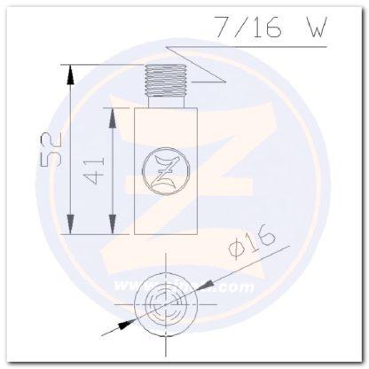 anodo 2712 dimensiones