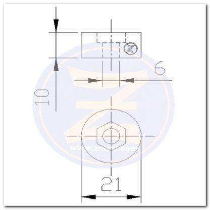 anodo circular 2725 dimensiones