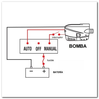 bomba sumergible automatica conexiones