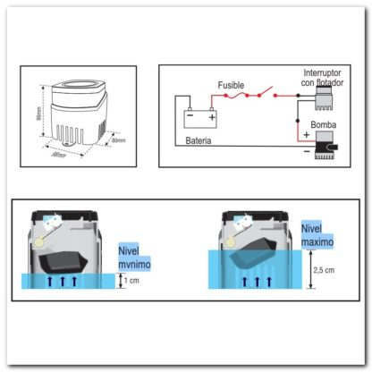 interruptor FS40 dimensiones