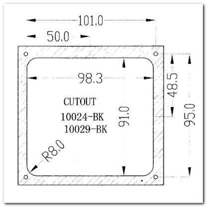 panel 3A10024 dimensiones
